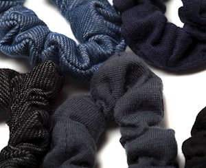 Mini Denim Scrunchies 8pc